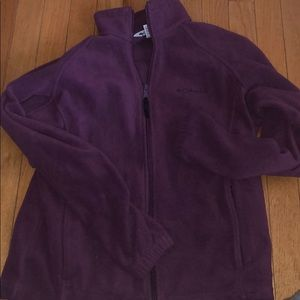 Purple Columbia zip up sweater size small